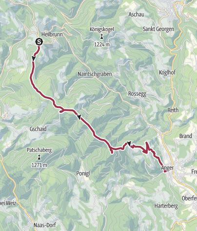 Karte / Brandlucken-Zetz-St. Kathrein-Rundweg