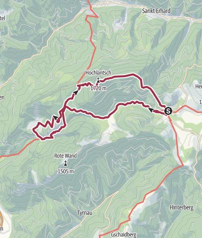 Karte / Hochlantschrunde mit Bärenschützklamm