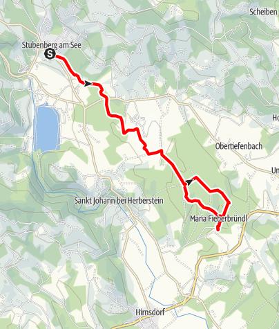 Karte / Fieberbründlweg
