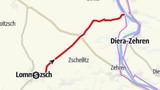 Karte der Tour Obstblütenweg