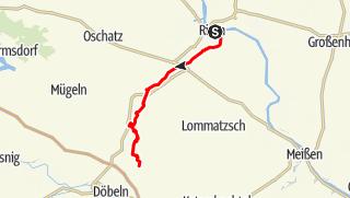 Karte der Tour Jahnatal - Radroute
