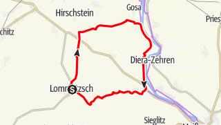 Karte der Tour Lommatzscher Rundweg