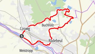 Karte der Tour Elbe-Moritzburg-Lößnitzgrund-Radroute