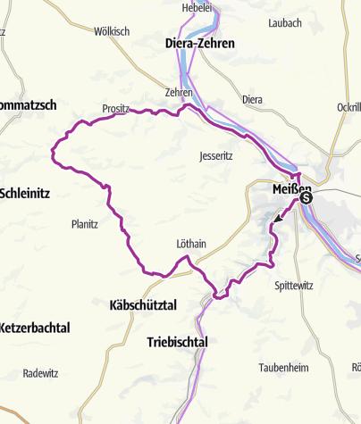 "Map / ""Meißner 8"" - Nordroute"