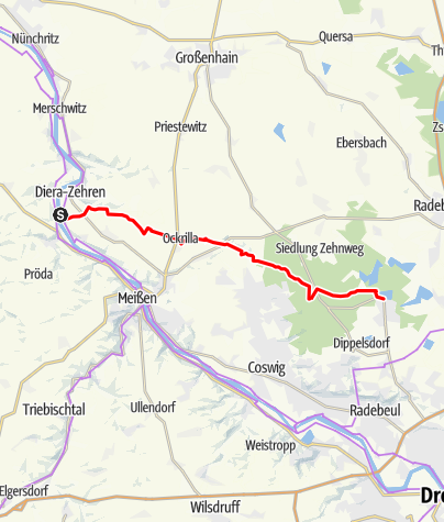 Karte / Moritzburger Weg