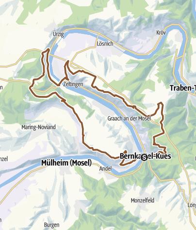 Karte / Mosel Panoramatour - Mountainbiken an der Mosel