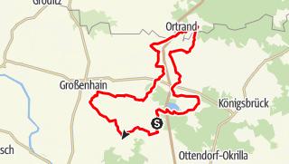 Karte der Tour Rundweg Großenhainer Pflege - Auf dem ehemaligen Mühlenweg