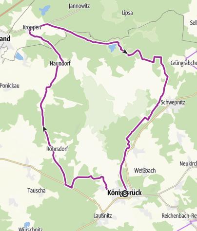 Karte / Rundweg Königsbrücker Heide - Wo Wildnis entsteht