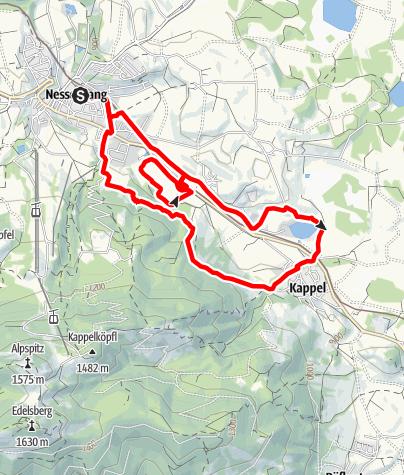 Karte / Traillauf Kappeler Höhenweg