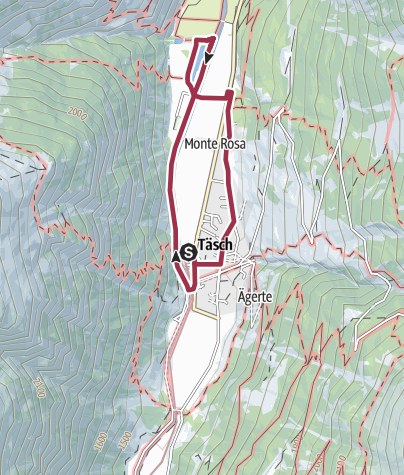 Map / Rundwanderung Täsch