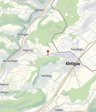 Karte / Menhir Degernau - zwischen Degernau und Erzingen