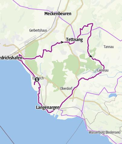 Map / Hopfenschlaufe - von Tettnang zum Schwäbischen Bodensee