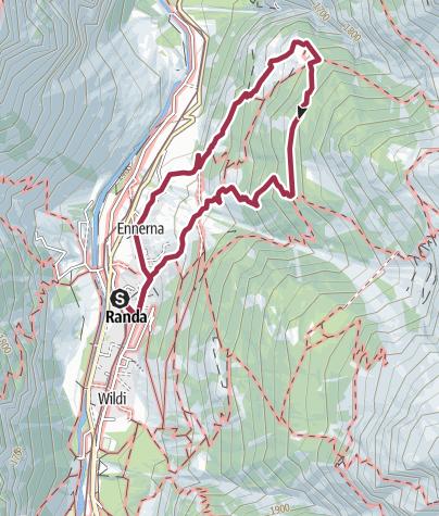 Map / Waldweg Randa