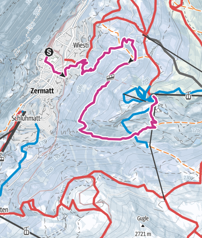 Map / Zermatt-Sunnegga (via Tiefenmatten) (Nr. 115)