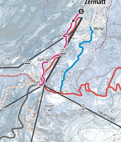Map / Zermatt-Furi (via Blatten) (Nr. 118)