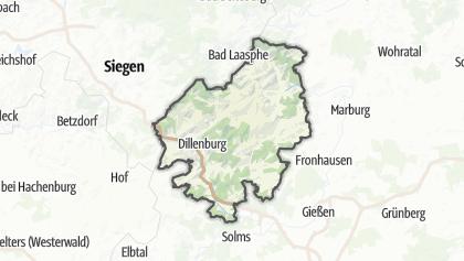 Mapa / Lahn-Dill-Bergland