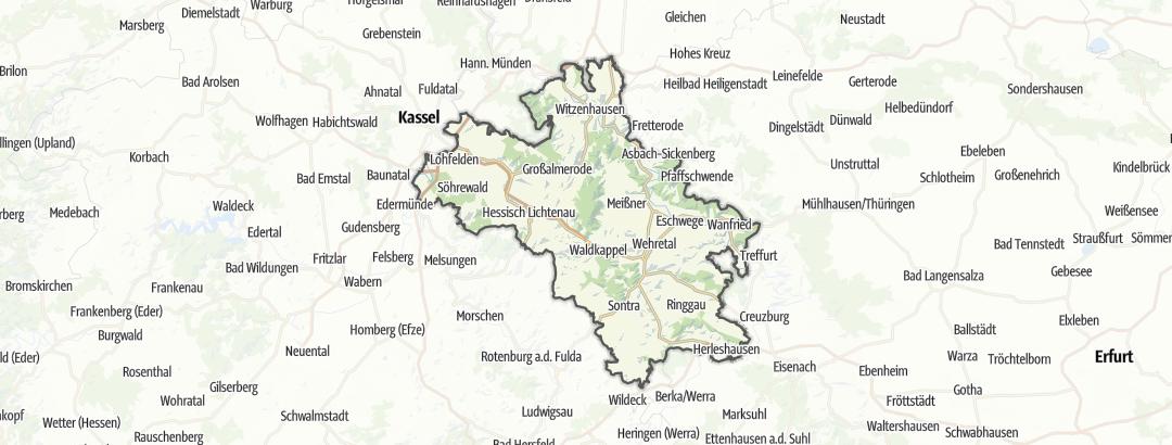 Karte / Geo-Naturpark Frau-Holle-Land