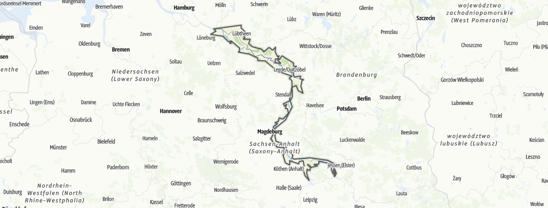 Karte / Flusslandschaft Elbe