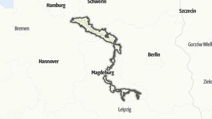 地图 / Flusslandschaft Elbe