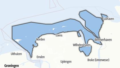 Carte / Niedersächsisches Wattenmeer