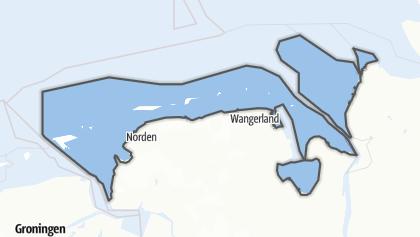 Mapa / Niedersächsisches Wattenmeer