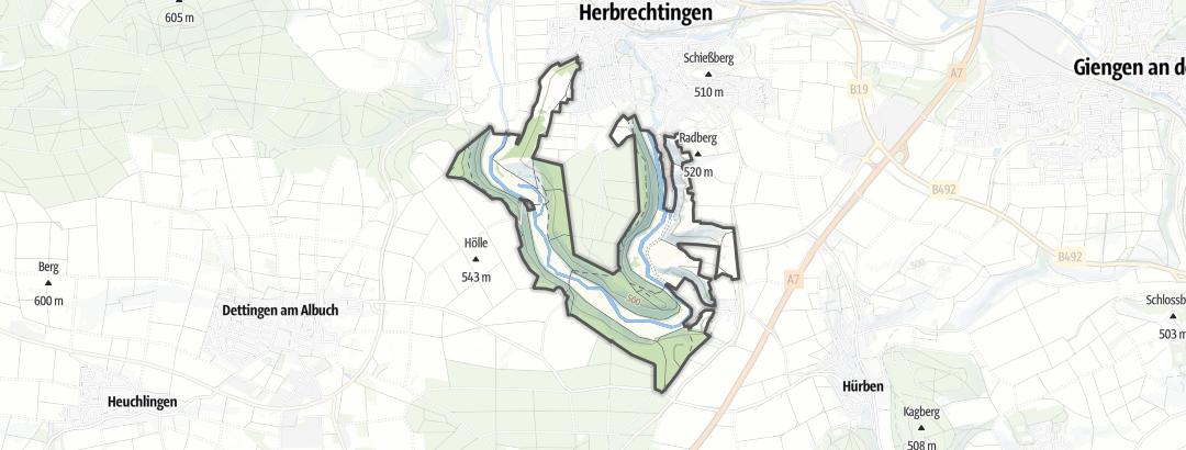 Map / Eselsburger Tal