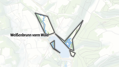 מפה / Itztal und Effeldertal bei Weißenbrunn vorm Wald