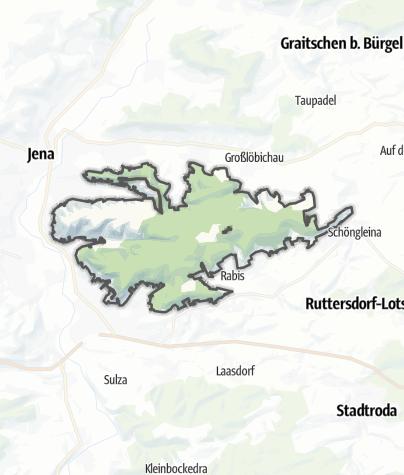 Karte / Kernberge und Wöllmisse bei Jena