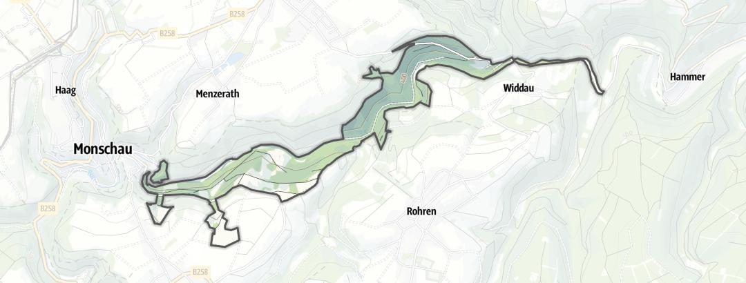 Karte / Mittleres Rurtal mit den Felsbildungen der Perdsley und Wiselsley