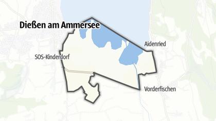 Hartă / Vogelfreistätte Ammersee-Südufer