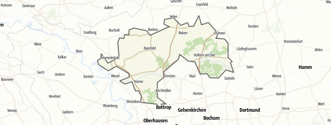 Karte / Hohe Mark-Westmünsterland
