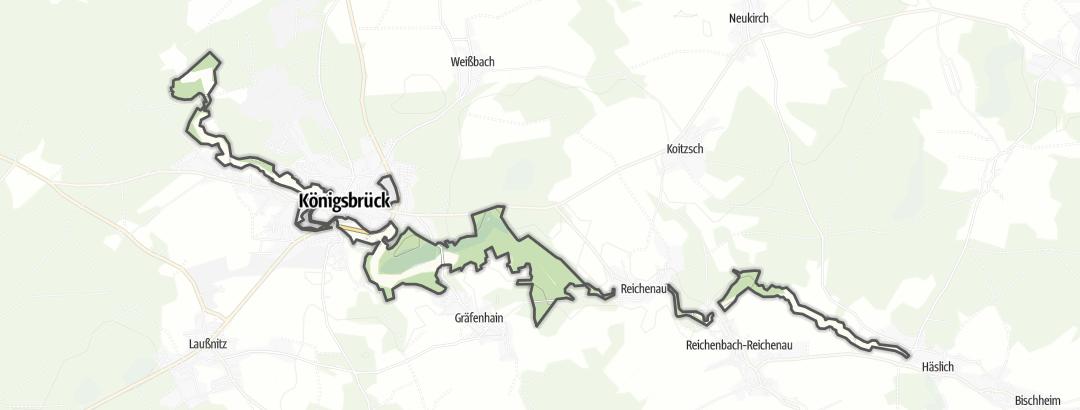 Karte / Pulsnitz- und Haselbachtal