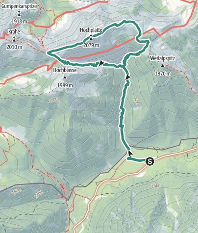 Map / Mountain tour – Hochplatte
