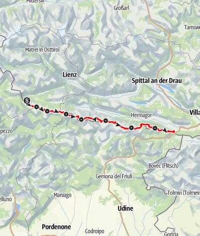 Karte / Karnischer Höhenweg