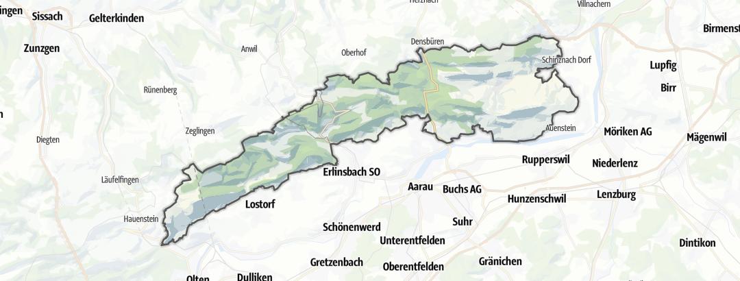 Carte / Aargauer und östlicher Solothurner Faltenjura