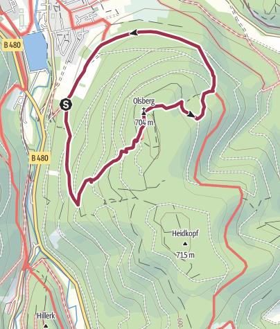Karte / Olsberger Gipfelkreuztour ( Qualitätstour)