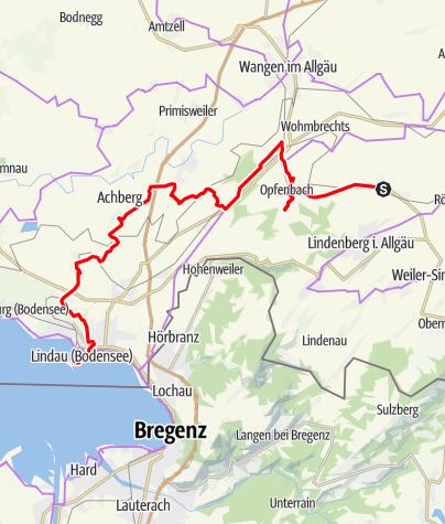 Karte / Radfahren auf der Allgäuer Käsestraße - Käse, Wein und feine Brände