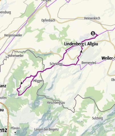 Karte / Radfahren auf der Allgäuer Käsestraße - Käse mit Aussicht