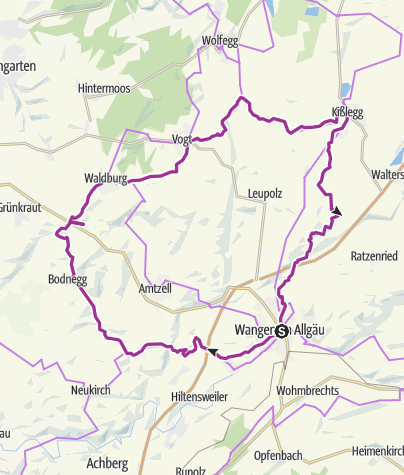 Karte / Radfahren auf der Allgäuer Käsestraße - Käse und Kuh-ltur II