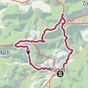 Mapa / Hohenstein - Eisenstein und Paulinenhöhle von Türnitz