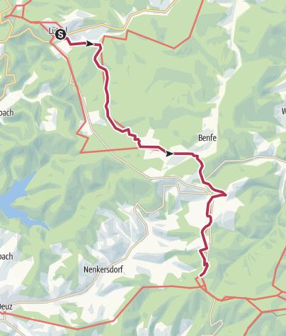 Karte / Rothaarsteig Etappe 6: Von Lützel zum Lahnhof