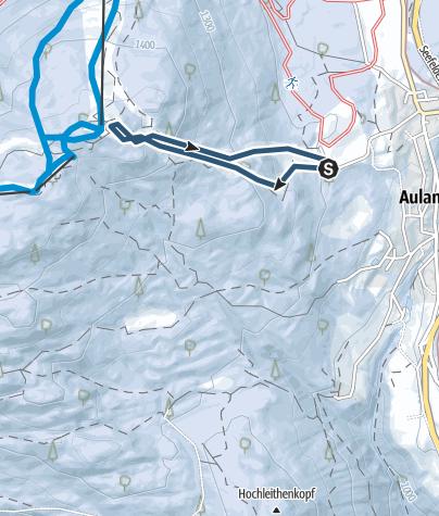 Karte / Geschwandtkopf - Kurztour im aufgelassenen Schigebiet von Reith / Auland