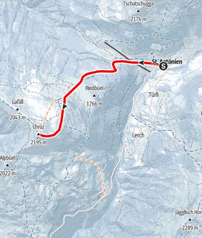 Karte / Chrüz 2196m