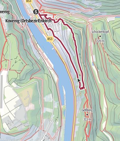Karte / Steillagenwanderweg Enkirch