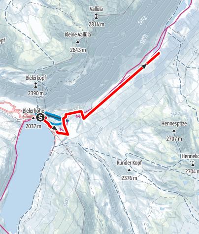 Karte / Nr. 1: Loipe Bielerhöhe-Galtür (klassisch&skating)