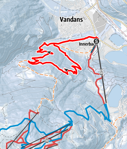 Karte / Von Vandans über Lendi nach Mularientsch