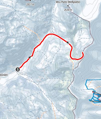 Karte / Rotspitz 2517m