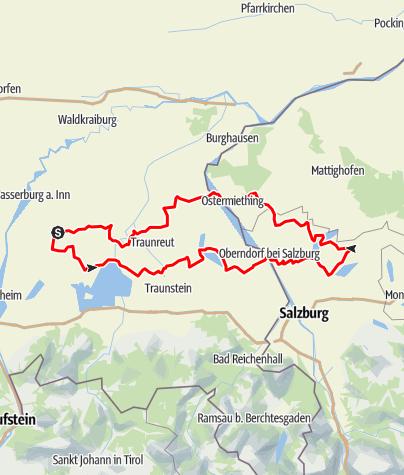 Karte / Oldtimertour - Bayerisch Salzburgische Seentour