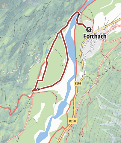 Map / Naturpark Tiroler LECH | Wildflusslandschaft in Forchach