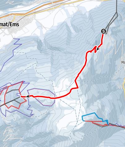 Karte / 532 Brambrüesch-Feldis Trail (GR 1)